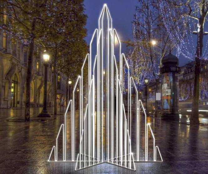 Световая 3D фигура «Ель новогодняя»