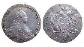 1 Рубль 1769 г. СПБ TI CA. Серебро, 23,95 гр. СУПЕР СОСТОЯНИЕ 100% ОРИГИНАЛ