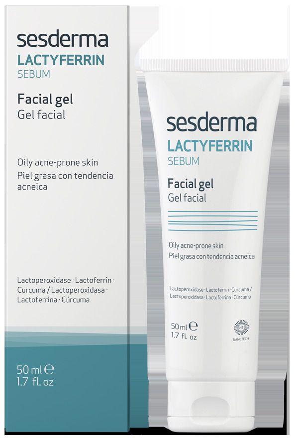LACTYFERRIN Sebum facial gel – Гель для лица увлажняющий Sesderma (Сесдерма) 50 мл