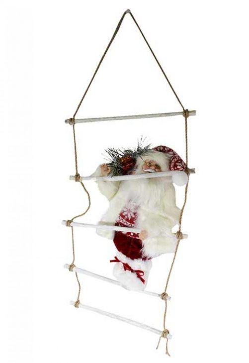 Санта Клаус на подвесной лестнице арт.274