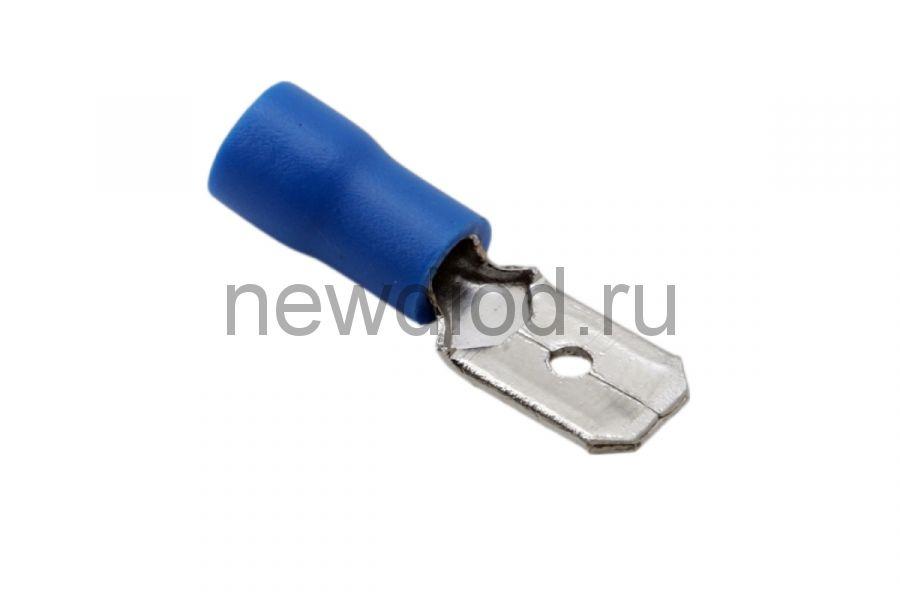 КЛЕММА ПЛОСКАЯ изолированная штекер - 6.3мм 1.5-2.5мм² (РПи-п 2.5-(6.3) / (MDD2-250) синий  REXANT