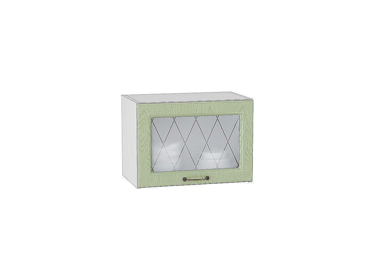 Шкаф верхний горизонтальный Ницца ВГ500 со стеклом (дуб оливковый)