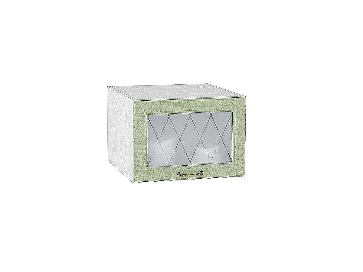 Шкаф верхний горизонтальный Ницца ВГ510 со стеклом (дуб оливковый)
