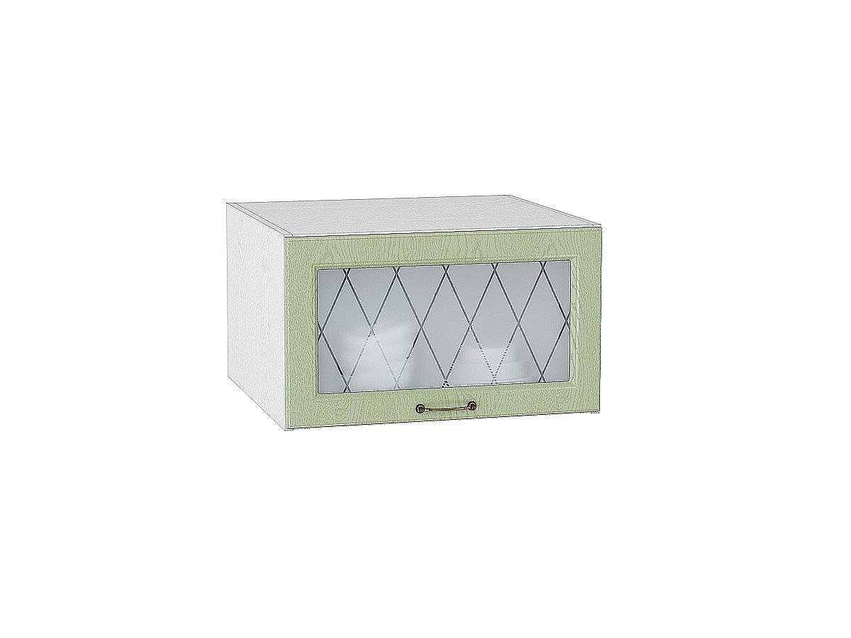 Шкаф верхний горизонтальный Ницца ВГ610 со стеклом (дуб оливковый)