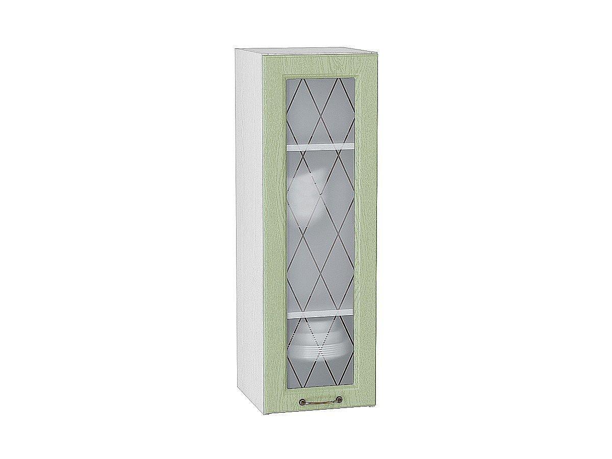Шкаф верхний Ницца В309 со стеклом (дуб оливковый)