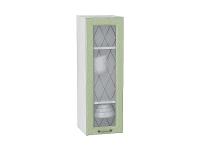 Шкаф верхний с 1-ой дверцей Ницца В309 со стеклом в цвете дуб оливковый