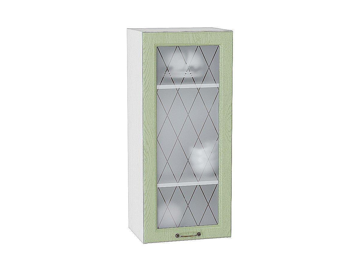 Шкаф верхний Ницца В409 со стеклом (дуб оливковый)