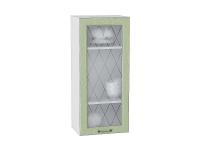 Шкаф верхний с 1-ой дверцей Ницца В409 со стеклом в цвете дуб оливковый