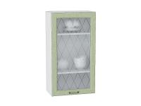 Шкаф верхний Ницца В509 со стеклом (дуб оливковый)
