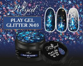 03 Gel PLAY GLITTER  Royal 5мл.
