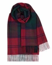 теплый шотландский шарф 100% шерсть , расцветка  (тартан) клана Линдси  LINDSAY MODERN TARTAN LAMBSWOOL SCARF плотность 6