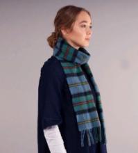 теплый шотландский шарф 100% шерсть , расцветка клан Маклауд (старинный)  MACLEOD OF HARRIS ANCIENT  TARTAN плотность 6
