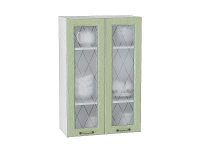 Шкаф верхний Ницца В609 со стеклом (дуб оливковый)