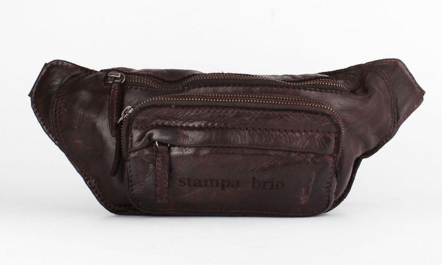 Кожаная поясная сумка Stampa Brio