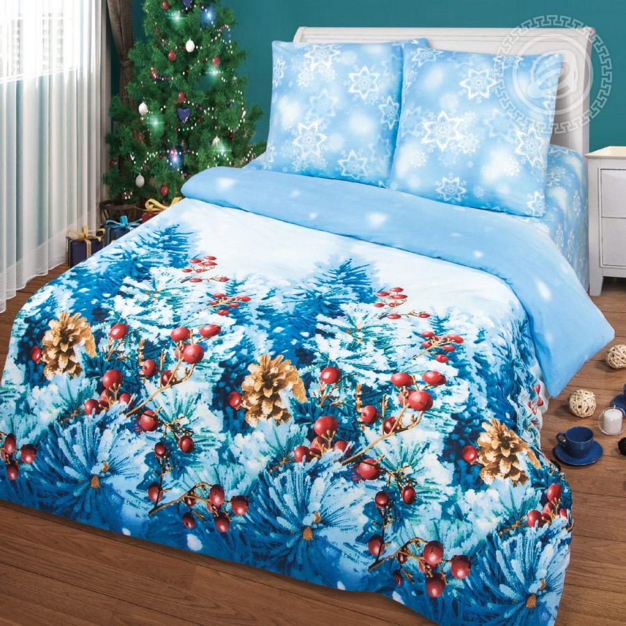 «Чародейка» (Премиум) постельное белье Бязь 2-х спальный с евро