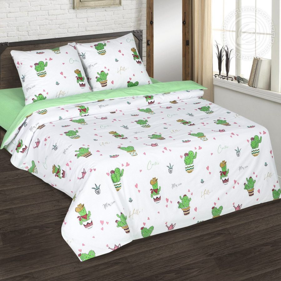 «Мехико» (DE LUXE) постельное белье Поплин 2-х спальный с евро