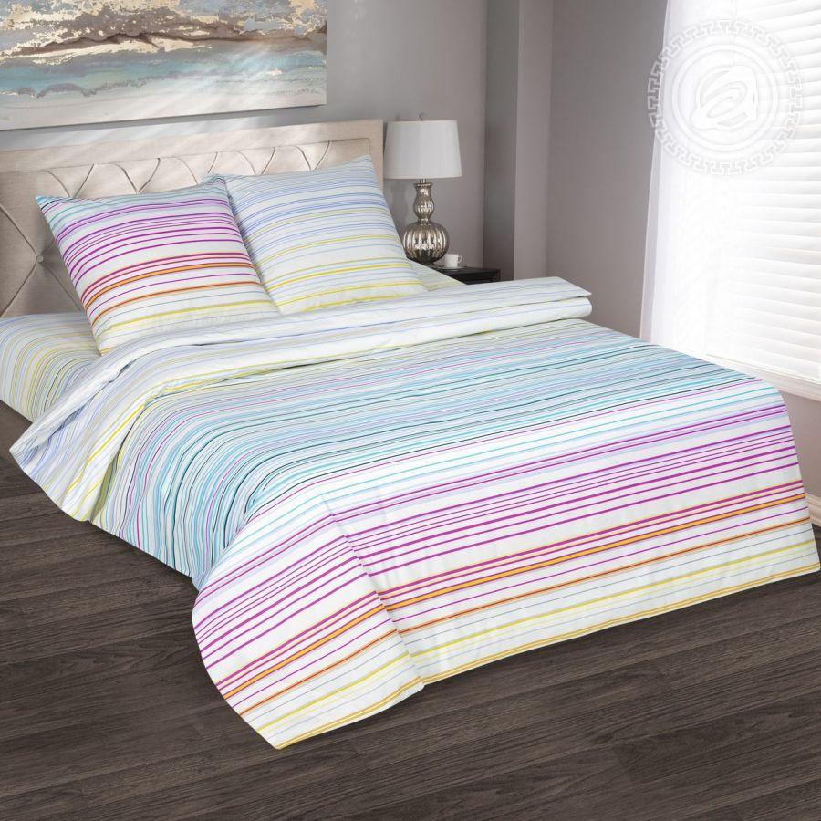 «Полоска» (DE LUXE) постельное белье Поплин 1.5 спальный