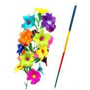 DELUXE Rainbow Cane to Flower Разноцветная трость превращается в букет из 21 цветка