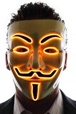 Неоновая маска Гай Фокс