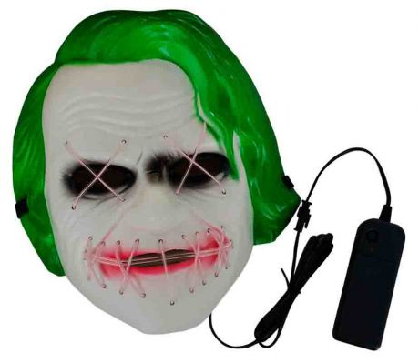 Неоновая маска Джокер