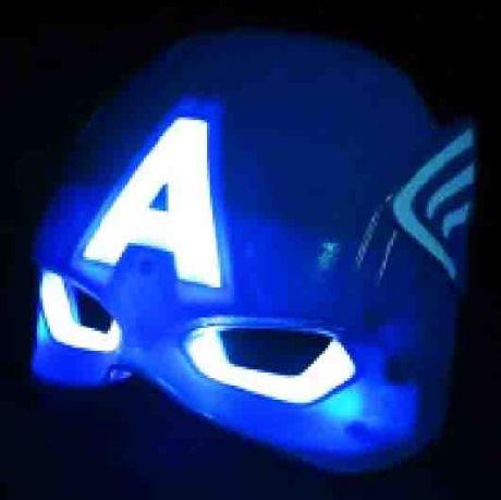 Маска Капитан Америка (светящаяся)