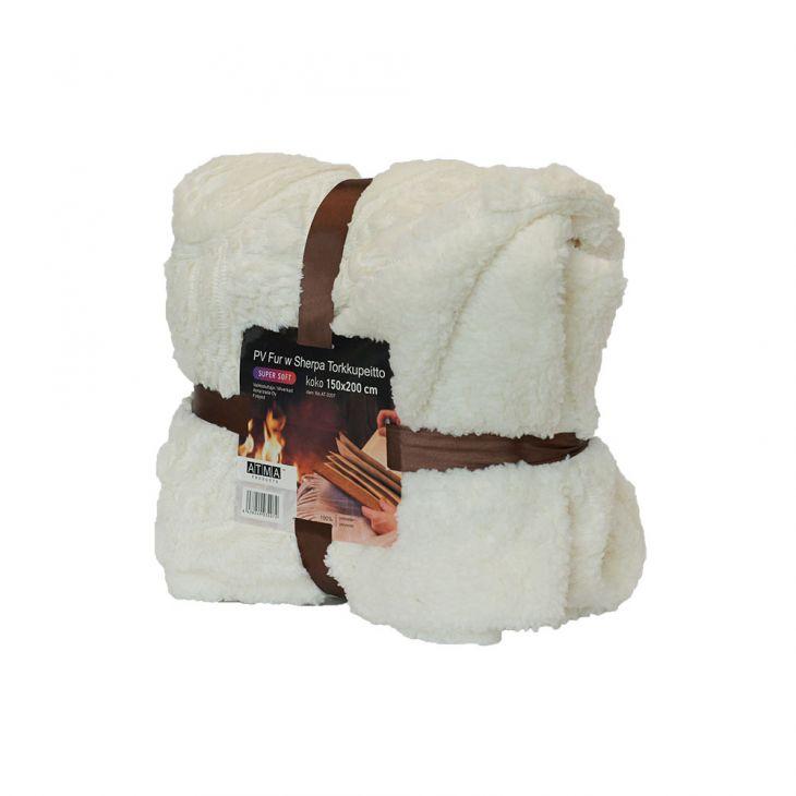 Плед SHERPA Blanket 200*240 см white