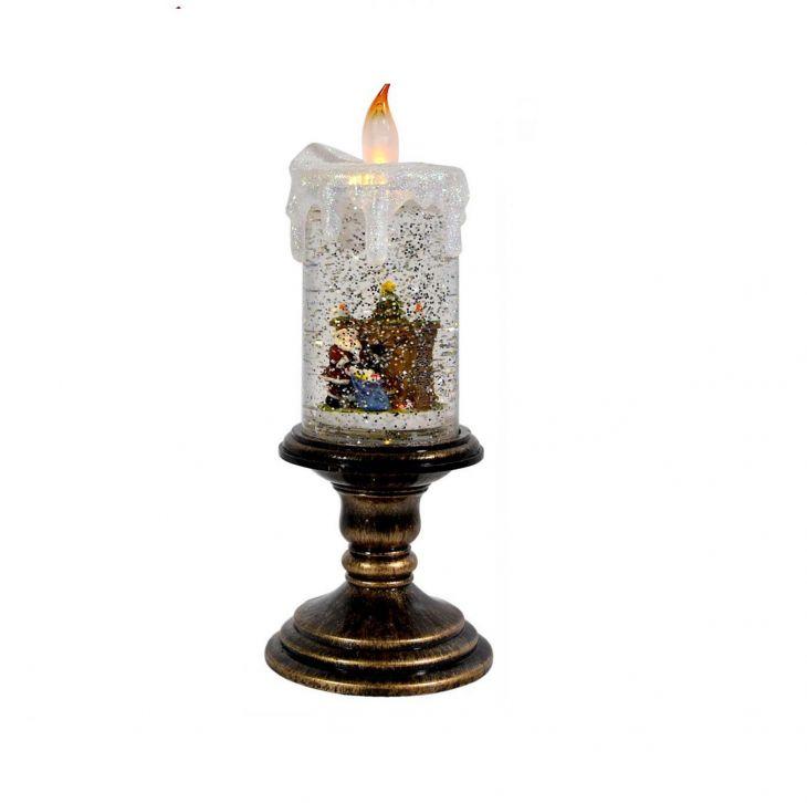 Свеча LED снежная фантазия арт.555