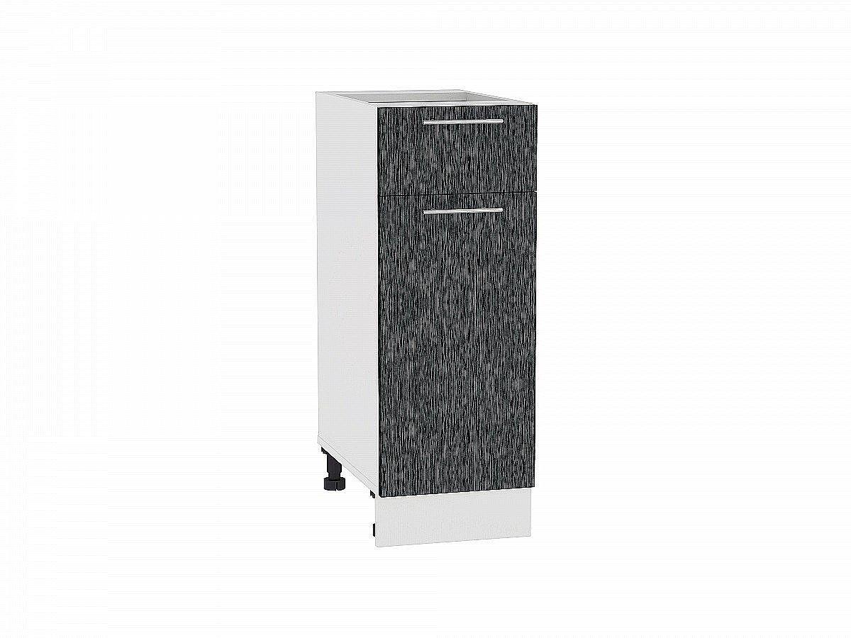 Шкаф нижний Валерия Н301 (чёрный металлик дождь)