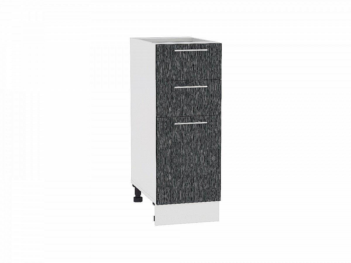 Шкаф нижний Валерия Н303 (чёрный металлик дождь)