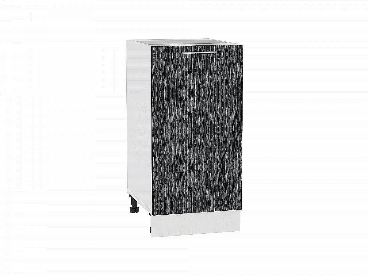 Шкаф нижний Валерия Н400 (чёрный металлик дождь)