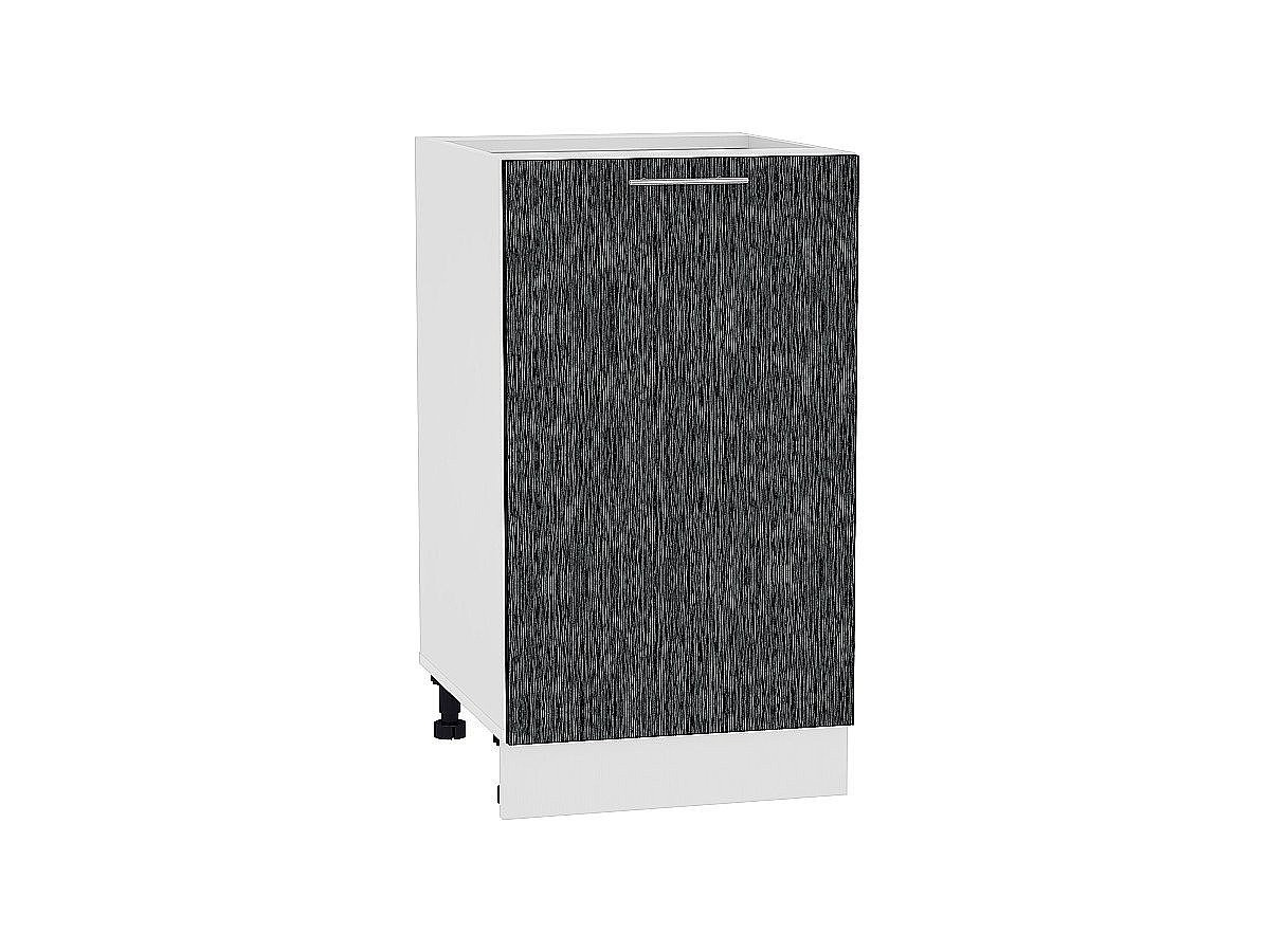 Шкаф нижний Валерия Н450 (чёрный металлик дождь)