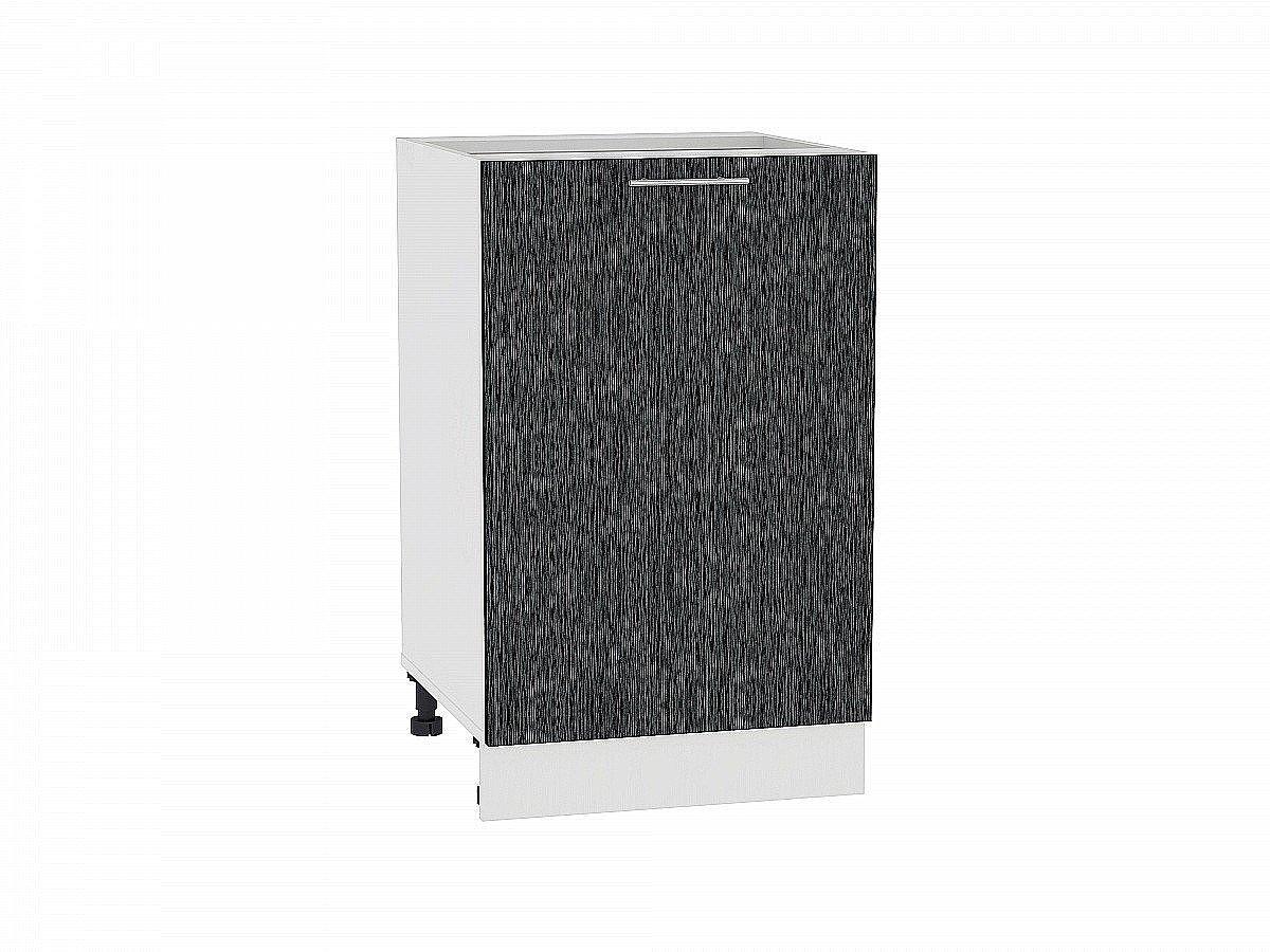 Шкаф нижний Валерия Н500 (чёрный металлик дождь)