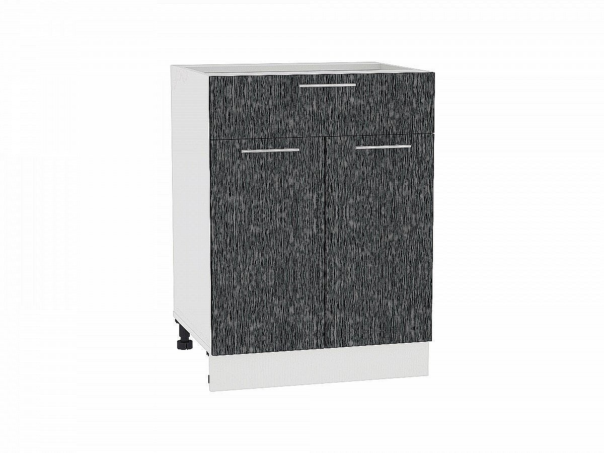 Шкаф нижний Валерия Н601 (чёрный металлик дождь)