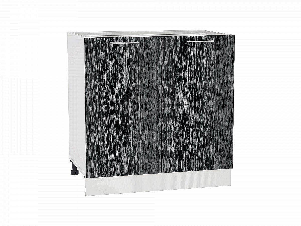Шкаф нижний Валерия Н800 (чёрный металлик дождь)