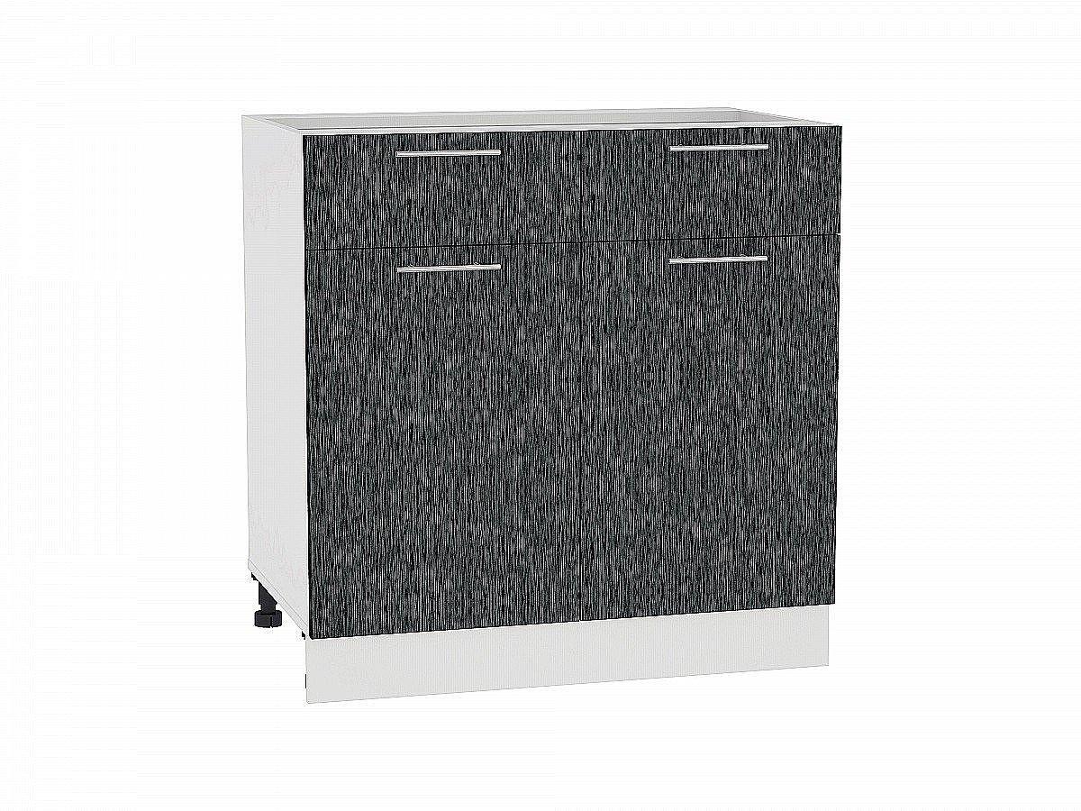 Шкаф нижний Валерия Н801 (чёрный металлик дождь)