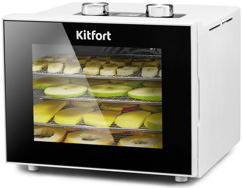 Сушилка для овощей и фруктов KitFort КТ-1915-1 (белая) (НОВИНКА)