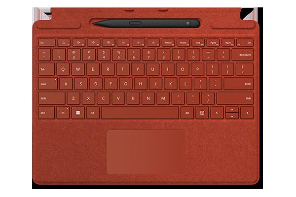 Клавиатура Surface Pro Signature Keyboard Alcantara (Poppy red) + Slim Pen 2