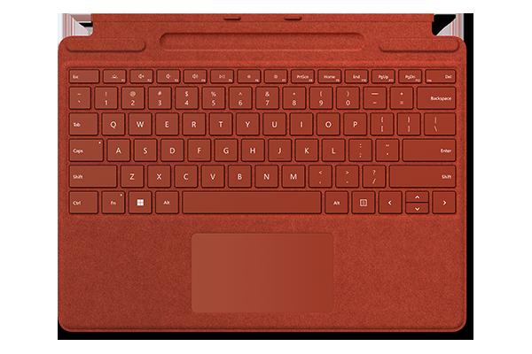 Клавиатура Surface Pro Signature Keyboard Alcantara (Poppy red)
