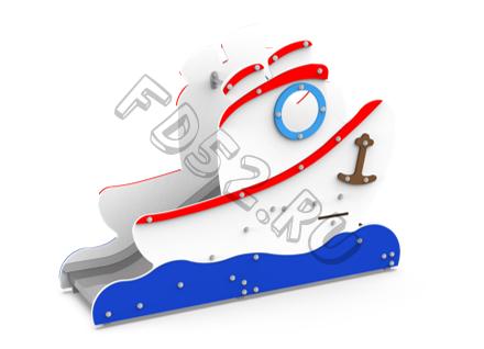 """Горка """"Кораблик""""  41.04.13 (Высота ската 1 м)"""
