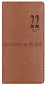 Еженедельник датир.А6 Letts MILANO светло-коричневый 412 156081/22-081401