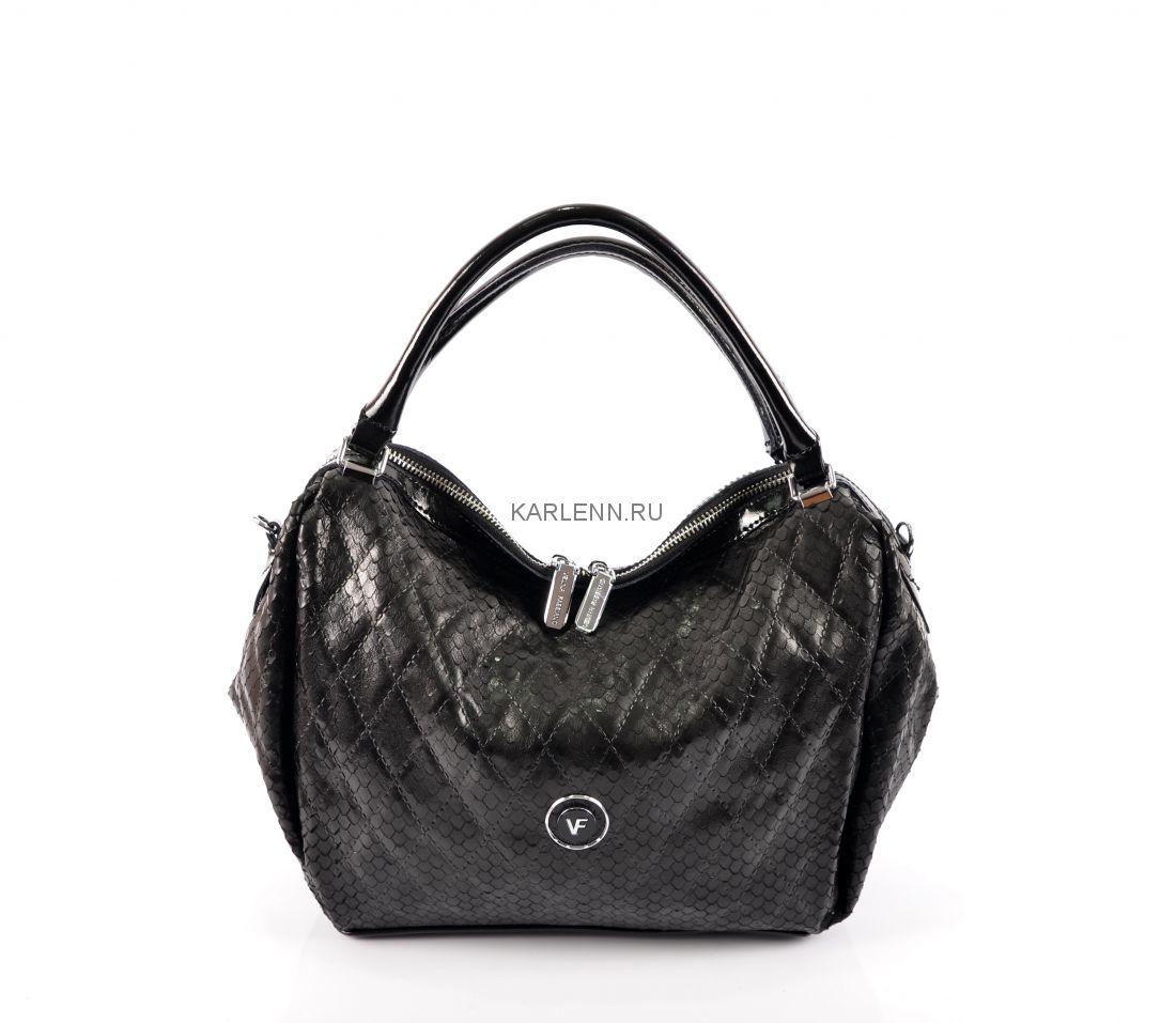Классическая сумка-хобо Velina Fabbiano (чёрная)