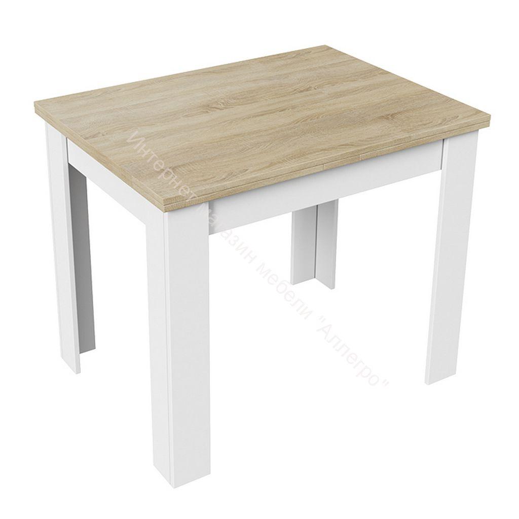 Стол раздвижной «Промо» тип 3 (Белый/Дуб сонома светлый)
