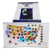 Набор 25 центов (квоттеры) ШТА и ТЕРРИТОРИИ США 56 шт. (1999-2009) в фирменном альбоме.