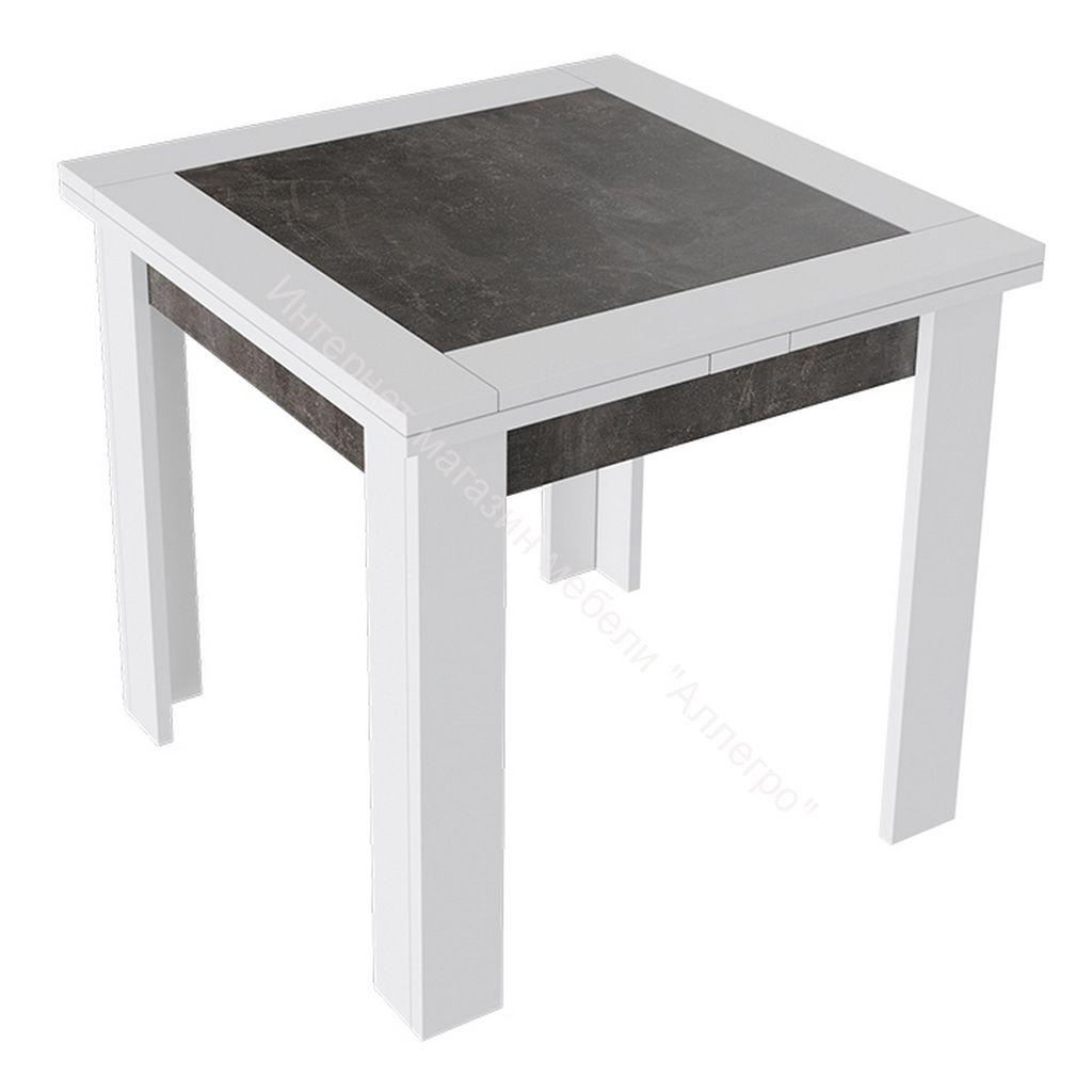 Стол раздвижной «Хьюстон» тип 3 (Белый / Ателье темный)