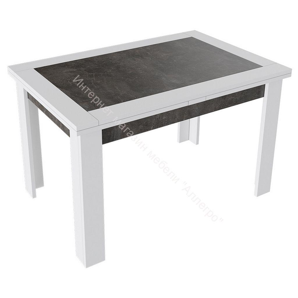 Стол раздвижной «Хьюстон» тип 4 (Белый / Ателье темный)