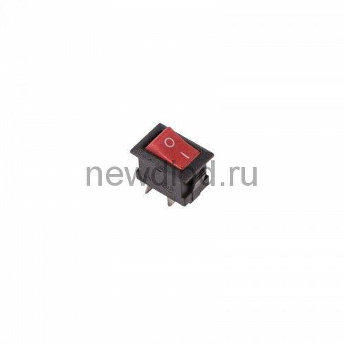 Выключатель клавишный 250V 3А (2с) ON-OFF красный Micro (RWB-101) REXANT