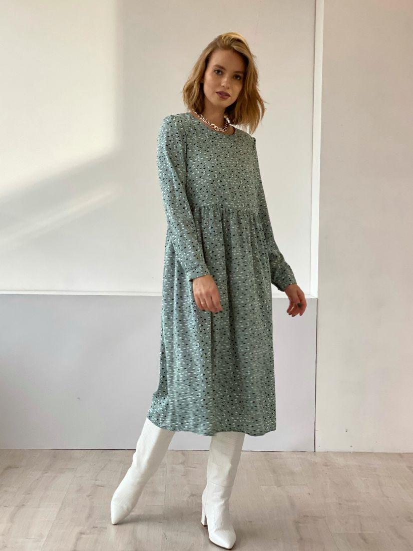 4825 Платье фисташковое
