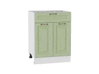 Шкаф нижний с 2-мя дверцами и ящиком Ницца Н601 в цвете дуб оливковый