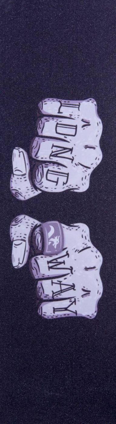 Шкурка для самоката Longway Printed Grey Fists