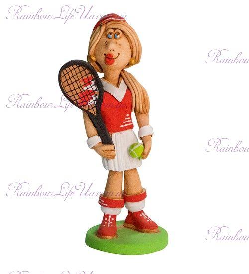 """Статуэтка """"Теннисистка с ракеткой"""""""